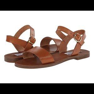 Steve Madden Donddi Sandal Two Strap Tan Leather